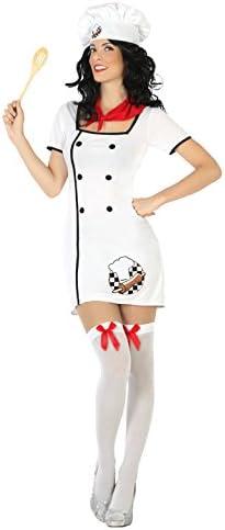 Atosa- Disfraz mujer cocinera, Color blanco, M-L (15804): Amazon ...