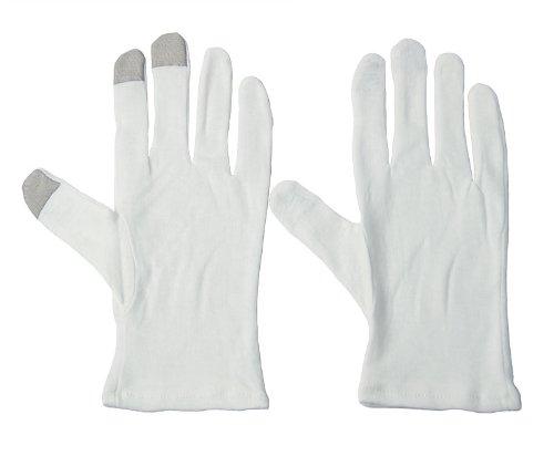 スマートフォン対応綿手袋 (L) 12組セット