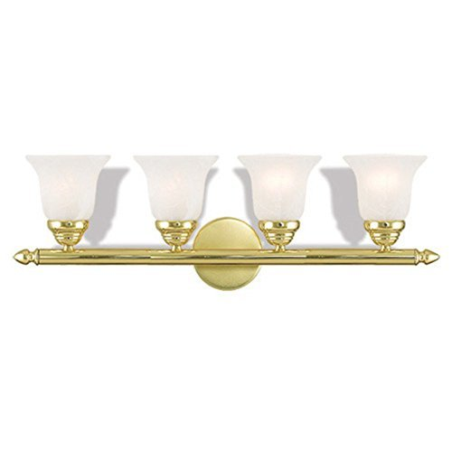02 Bath Brass Polished - Livex Lighting 1064-02 Neptune 4 Polished Brass Bath Light