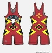 Brute New Mexico Sublimated Singlet - YOUTH MEDIUM ()