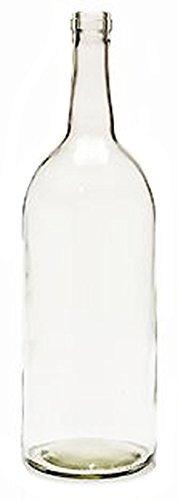Home Brew Ohio 1.5 Liter Claret/Bordeaux Bottles, 6per Case, Clear