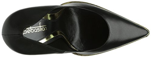 Schwarz talons avec à Noir 0 Chaussures Oro S6454 plateau femme Sebastian Napner Zx8TOqw68