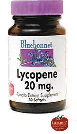Bluebonnet lycopène gélules, 20 mg, 30 Count