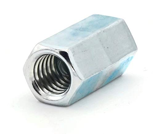 Coupling Reducer Nut Zinc - 3/8''-16 to 1/4''-20 (1/2'' F x 1'' L)- Qty-100