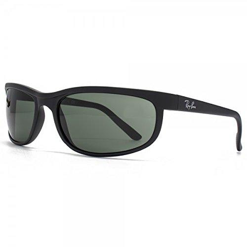 Ray-Ban RB2027 Predator 2 Sunglasses Matte Black w/Crystal Green (W1847) 2027 W1847 62mm Authentic