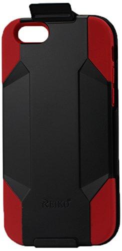 Reiko Hybrid Case Noir/Rouge - Coque de protection renforcée pour iPhone 6