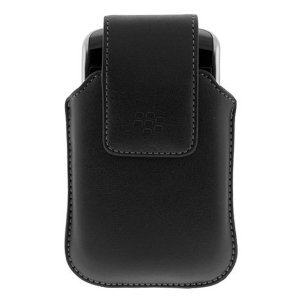 (BlackBerry Storm 9500 OEM Black Leather Clip Case)
