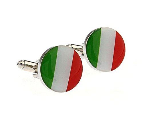 Italian White Cufflinks - 7