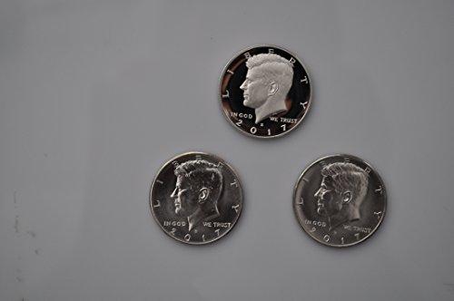 (2017 Various Mint Marks Kennedy 2017 kennedy half dollars proof & denver & philadelphia update set all 3 Superb Gem Uncirculated)