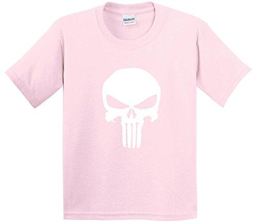 New Way 216 - Youth T-Shirt The Punisher Skull Medium Light Pink (Skull Hoodie Pink)