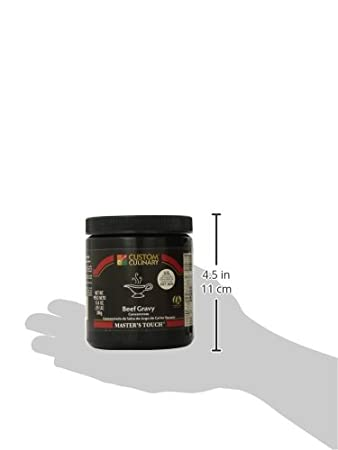 Amazon.com : Custom Culinary Masters Touch Beef Gravy Concentrate, 13.6-Ounce Plastic Jars (Pack of 6) : Grocery & Gourmet Food