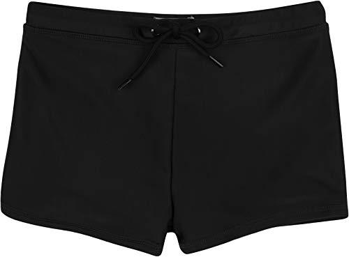 SwimZip Little Boy Euro Short Swim Trunk Bottoms Solid Black