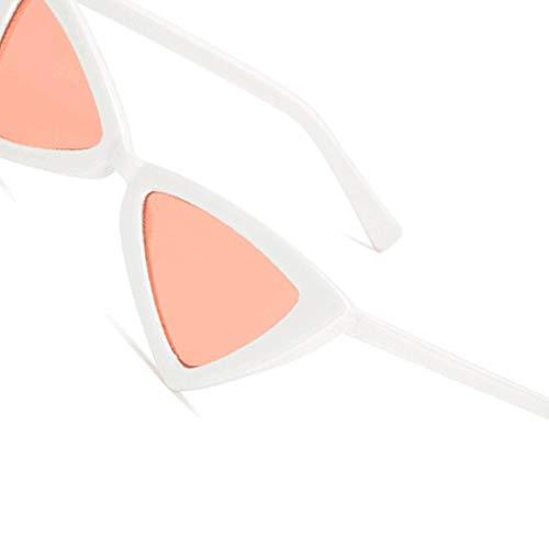 Cosplay En Air Sexy Frame Fish Uv400 Quotidien De Les Papillon Femmes Triangular Plein Pink Lunettes Protection Soleil White wq7Az