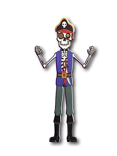Dolgencorp Halloween Jointed Cut-Out Decorations 54 Inches - Sugar Skull, Pirate or Jack-O-Lantern (Skeleton Pirate Jointed Cut Out) ()