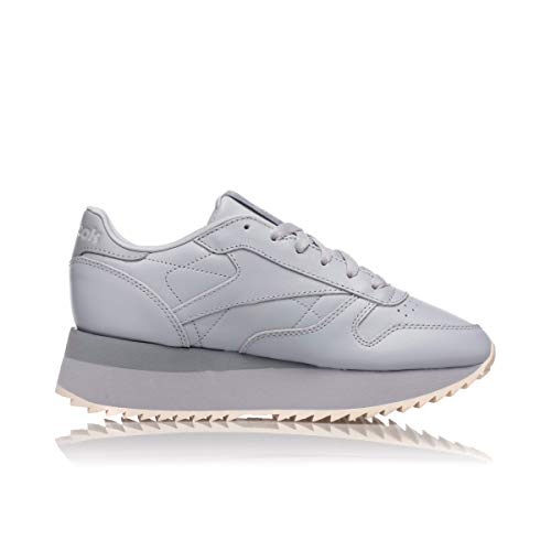 Leather Grey Shadow Classic Cold Double Pink Cool Reebok Pale Dv3626 Womens T7wqYE