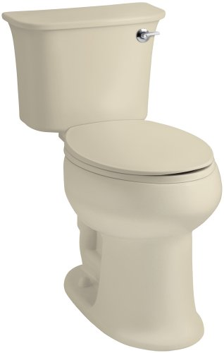 STERLING 402077-RA-47 Stinson ADA Elongated Toilet Right Handle Flush, Almond