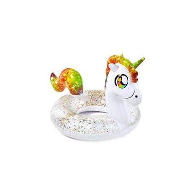 B&D group Pool Candy Rainbow Unicorn 48 inch Inflatable Glitter Jumbo Beach & Pool Tube: Sports & Outdoors