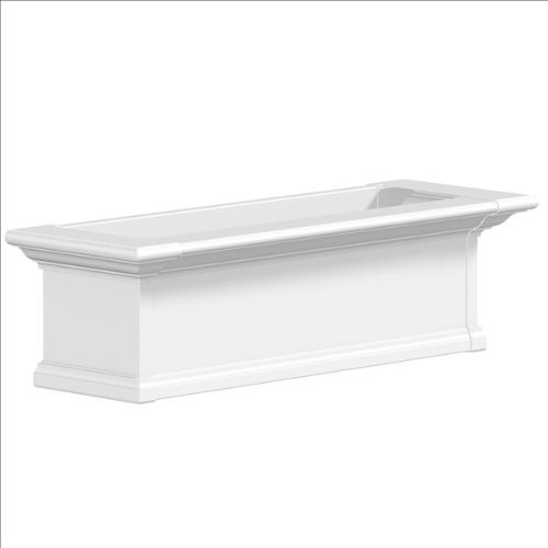 Yorkshire Window Box color: White, Size: 36'' by Mayne Inc.