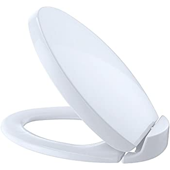 TOTO SS204 01 Contemporary SoftClose Oval Toilet Seat  Cotton WhiteToto SS114 01 SoftClose Elongated Toilet Seat Cover  Cotton White  . Toilet Seat 17 X 14. Home Design Ideas