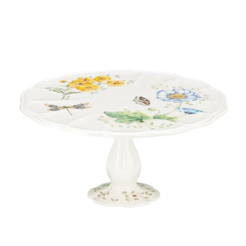 Lenox Butterfly Meadow Pedestal Cake Plate - Medium 10