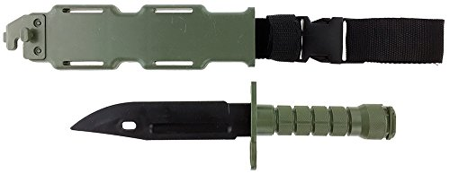 SportPro Rubber Combat Knife M9 Style for Training Airsoft  Olive Drab