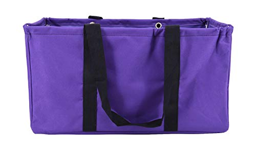 (April Fashions All Purpose Open Top Utility Bag, Collapsible Wire Frame Trunk Organizer, Market, (NU-266C Purple))