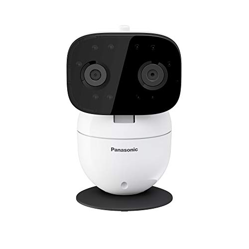 Panasonic Video Baby Monitor with Remote Pan/Tilt/Zoom, Wide-Angle Lens, Extra Long Audio/Video Range, 2 Way Talk and Lullaby or White Noises - KX-HN3001W (White)