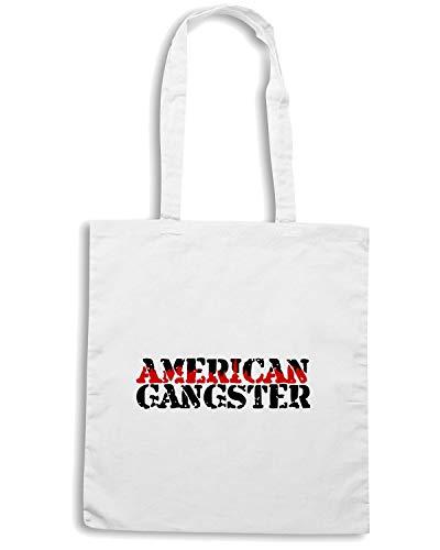 OLDENG00012 Speed Shirt Bianca AMERICAN GANGSTER Shopper Borsa UngqP8
