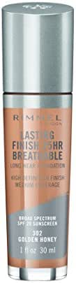 Rimmel Lasting Finish Breathable Foundation, Golden Honey, 1 Fluid Ounce