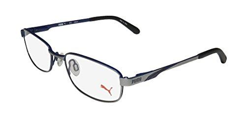 Puma 15409 Mens/Womens Designer Full-rim Spring Hinges Eyeglasses/Glasses (49-17-130, Gray / - Man Glasses Frames Old