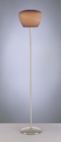 George Kovacs P626-084 Floor Lamp Brushed Nickel Chocolate Mousse Glass