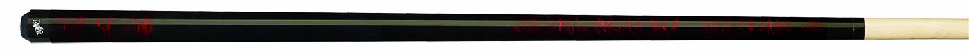 Dufferin Red Dream and Jet Black Marbled Pool Cue