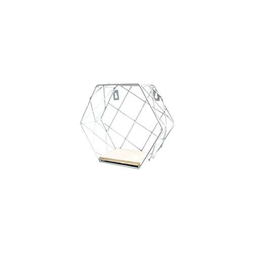 - Muranba 2019 ! Iron Hexagonal Grid Wall Shelf Combination Hanging Geometric Figure Decoration (C)