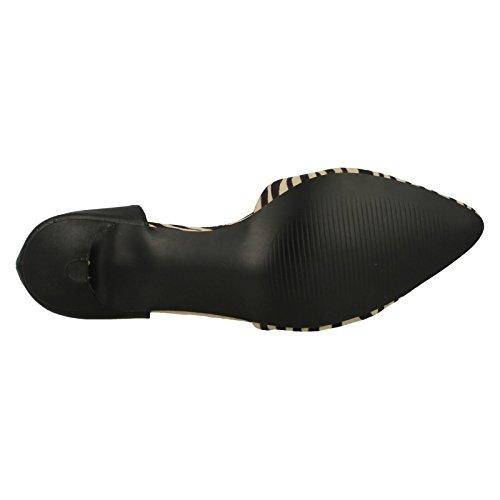 Savannah Kitten Natural Black Shoes Court Heel Ladies Black FwWCqOFd