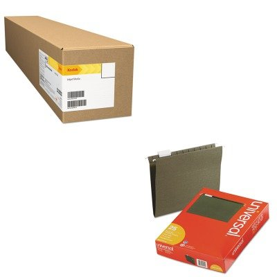 KITBMG08400136AUNV14115 - Value Kit - Kodak Professional Inkjet Smooth Fine Art Paper (BMG08400136A) and Universal Hanging File Folders (UNV14115) by Kodak
