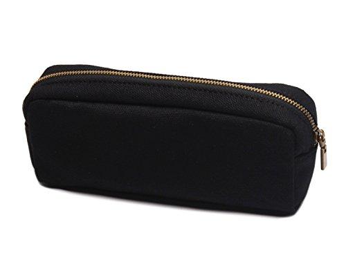 Karitco Plain Canvas Pencil Case with Brass Zipper 7.3 x 3 Inch (Classic  Black) - Buy Online in Oman.  9a1f56e5ded42