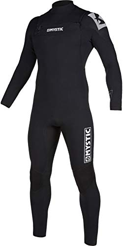 Mystic Watersports - Surf Kitesurf & Windsurfing Mens Star 3/2mm Double Front Zip Wetsuit - Black - Thermal Warm Heat from Mystic