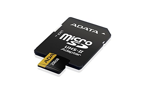 ADATA Premier ONE 256GB SDXC UHS-II U3 Class10 V90 3D NAND 4K 8K Ultra HD 275MB/s Micro SD Card with Adapter (AUSDX256GUII3CL10-CA1)