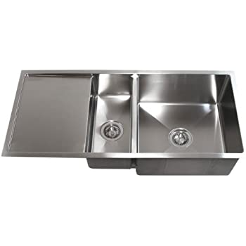 42 inch stainless steel undermount double bowl kitchen sink with 42 inch stainless steel undermount double bowl kitchen sink with drain board workwithnaturefo