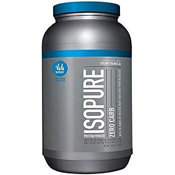 Isopure Zero Carb Protein Powder, 100% Whey Protein Isolate, Keto Friendly, Flavor: Creamy Vanilla, 3 Pounds