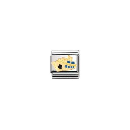 Nomination - 030210 - Maillon pour bracelet composable - Femme - Croix - Acier inoxydable et Or jaune 18 cts