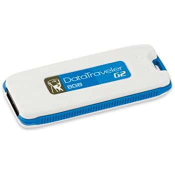 Kingston DataTraveler I Generation 2 - 8 GB USB 2.0 Flash Drive DTIG2/8GB (Blue)