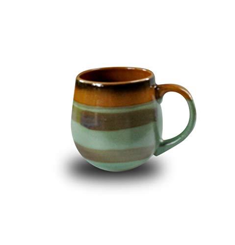 Extra Large Java 18 oz Ounce Ceramic Coffee Mugs for Latte Cappuccino Hot Cacao Cocoa White Chocolate Americano Macchiato Doppio Mocha (Green) ()