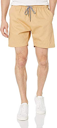 Visive Drawstring Short for Men Casual Elastic Waist Essential Shorts 2X-Large Khaki
