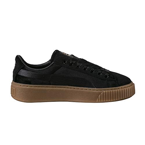 Sneaker Black Puma VS Damen Platform Basket gold nqffCRxTU