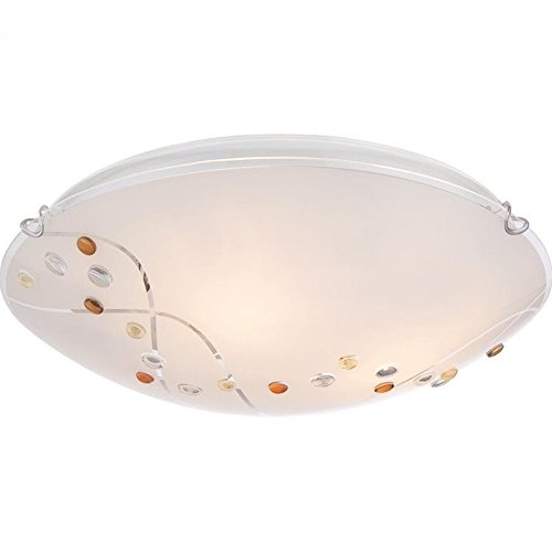 (Quoizel PCSL1616C Stellar Flush Mount Ceiling Lighting, 3-Light, 180 Watts, Polished Chrome (5