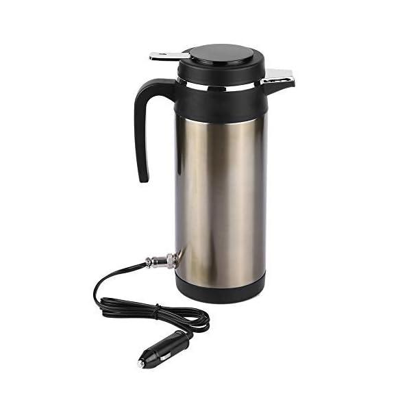 Wasserkocher 1200ML 12 V / 24 V Edelstahl Elektrische In auto Wasserkocher Reise Thermoskanne Heizung Wasserflasche…