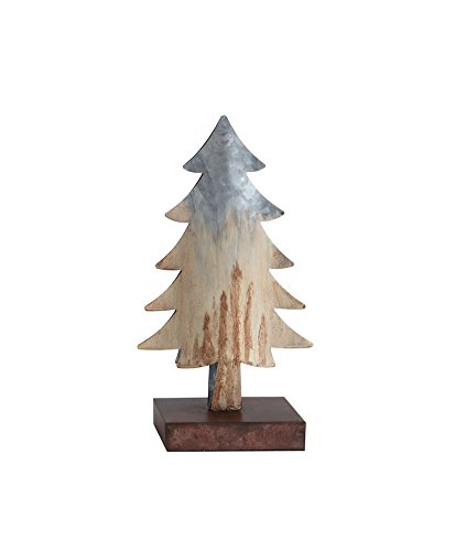 Heart of America Metal Tree Decor Natural With Rust Distressing - 2 Pieces