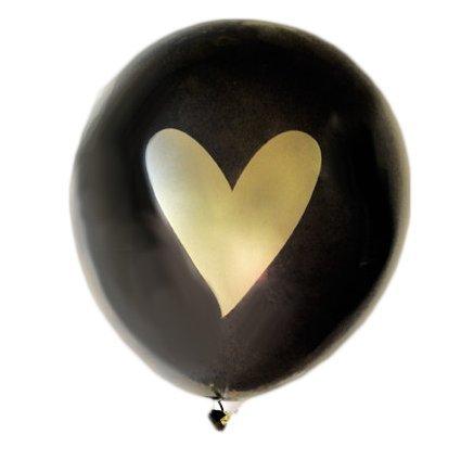 No Ribbon Black Gold White Heart Balloons Love 12 Latex Wedding Decoration Kit Proposal Vow Renewal Valentines Bridal Shower Party Bachelorette Celebration Anniversary