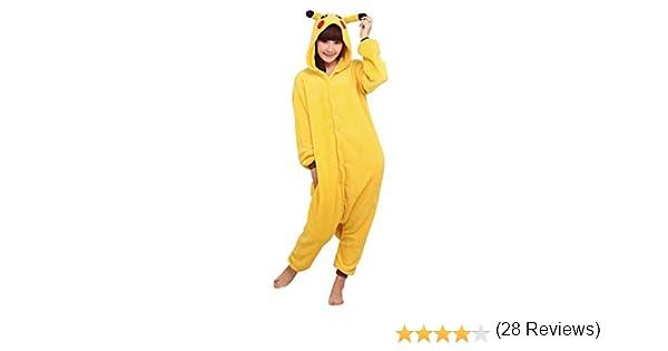Super9COS Pokemon Pikachu Kigurumi Pajamas Adult Anime Cosplay ...